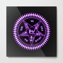 Sebastian Michaelis Sigil Light (black bg) Metal Print