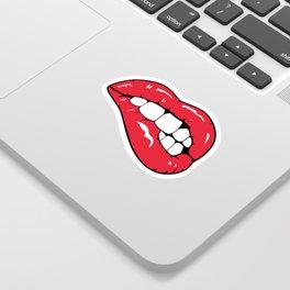 Red Lips Pop art Sticker