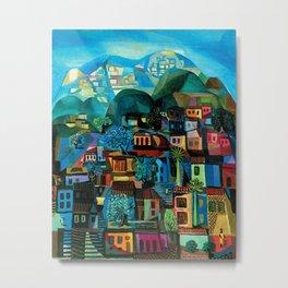 Favela Hillside, Rio de Janeiro by Emiliano di Cavalcanti Metal Print