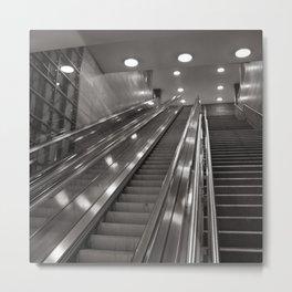 Underground station - stairs - Brandenburg Gate - Berlin Metal Print