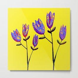 stylized flowers Metal Print