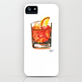 Negroni Cocktail Hour iPhone Case