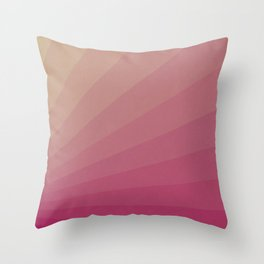 Shades of Pink Sunset Throw Pillow