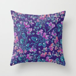 sophia roses by the sea Throw Pillow