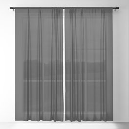 Charcoal Sheer Curtain