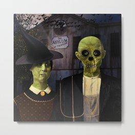 American Gothic Halloween Metal Print