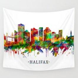 Halifax Canada Skyline Wall Tapestry