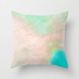 Atoll Pastel Watercolor Throw Pillow