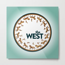 The West Medallion Metal Print