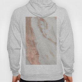 Marble Rose Gold Shimmery Marble Hoody