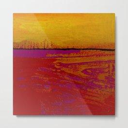 Square Abstract No. 8 by Kathy Morton Stanion Metal Print