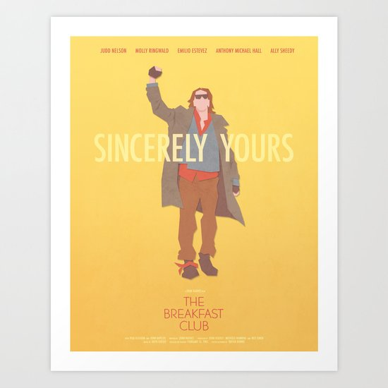 Sincerely Yours (The Breakfast Club) by drawtwoprints