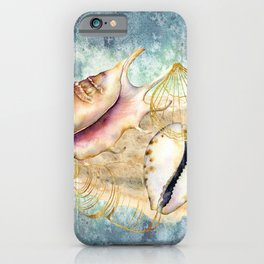 Watercolor Under Sea Collection: Shells iPhone Case