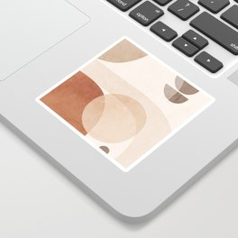 Abstract Minimal Shapes 16 Sticker