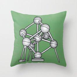 Atomium Brussels Throw Pillow
