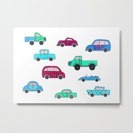 Cars II Metal Print