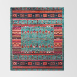Anthropologie Ortiental Traditional Moroccan Style Artwork Throw Blanket