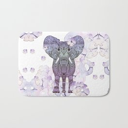FLOWER SHOWER ELEPHANT Bath Mat