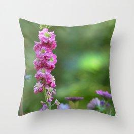 Snap Dragon Flower Throw Pillow
