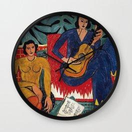 Henri Matisse - Music - Exhibition Poster Wall Clock