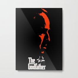 The Godfather Artwork, Posters, Prints, Tshirts, 1972 Movie For Men, Women, Kids Metal Print