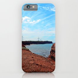 Cliffside Wind Turbines iPhone Case