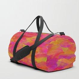 Yellow-Red Damask Duffle Bag