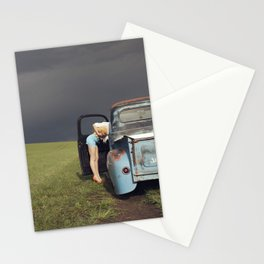 Women, Weather, and A Vintage Truck Stationery Cards