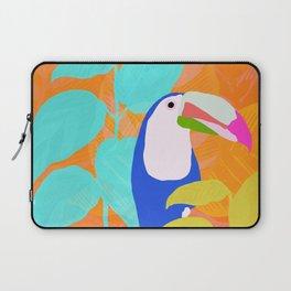 tropical toucan, orange Laptop Sleeve