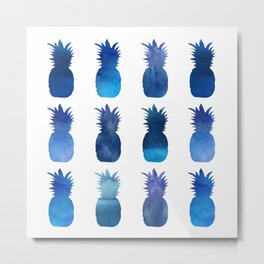 blue pineapples Metal Print