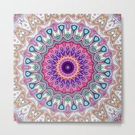 Colorful Ornate Mandala Metal Print