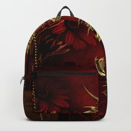 Wonderful golden chinese dragon Backpack
