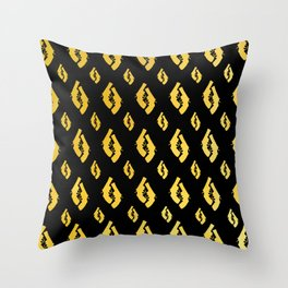 Golden Guns Throw Pillow