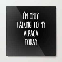 Funny Alpaca Metal Print