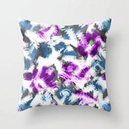 """Watercolor glamour "". Lilac - blue. Throw Pillow"