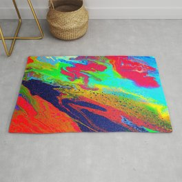 Abstract glitter art landscape painting Rug