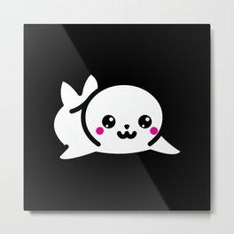 Kawaii Sea Seal Gift Idea Design Motif Metal Print