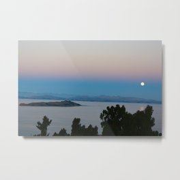 Isla Del Sol Moonrise Metal Print