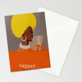 Rare Vintage 1970 Cinzano Aperitif Glass Set Offer Advertisement Poster Stationery Cards
