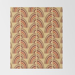 Rusty and sand. Abstract pattern Throw Blanket