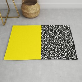 Memphis Black and Yellow 80s Pattern Rug