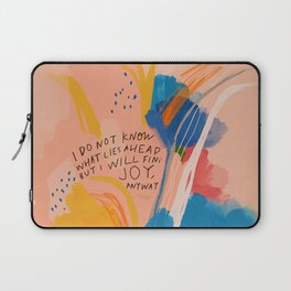 Find Joy. The Abstract Colorful Florals Laptop Sleeve