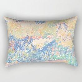 The Artist's Garden at Saint-Clair by Henri-Edmond Cross 1904-5, French Rectangular Pillow