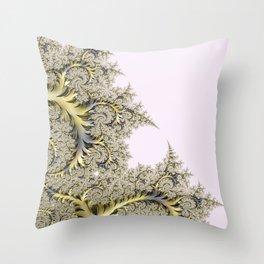 Frosty Snowflake Throw Pillow