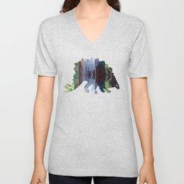 Stegosaurus art Unisex V-Neck