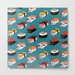 Sushi Frenchie Metal Print