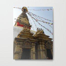 The Monkey Temple - Kathmandu, Nepal Metal Print