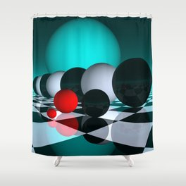 3 colors for your wall -6- Shower Curtain