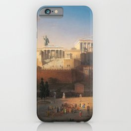 The Acropolis of Athens, Greece by Leo von Klenze iPhone Case