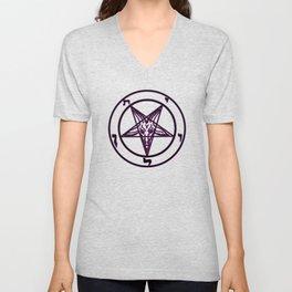 Das Siegel des Baphomet - The Sigil of Baphomet (purple reign) Unisex V-Neck